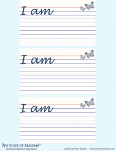I AM-Affirmation Printable-Voice Of Reason