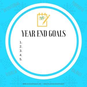 Year End Goals Card