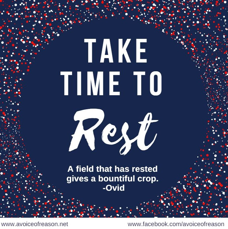 Take Time To Rest This Labor Day 2016 | A Voice Of Reason